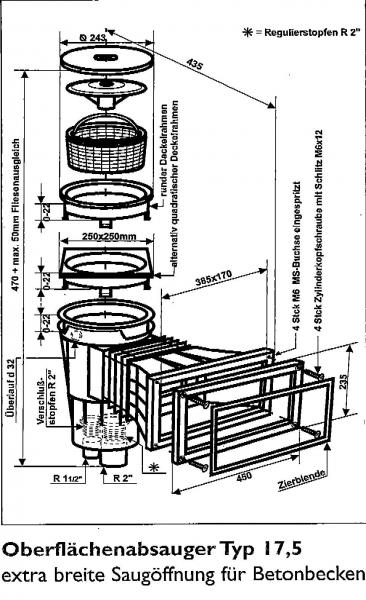 skimmer swim tec f r schwimmbad und pool. Black Bedroom Furniture Sets. Home Design Ideas